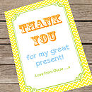 Personalised Party 'Thank You' Card