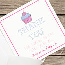 Personalised Pink 'Thank You' Cards