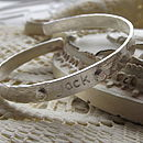 Personalised Silver Christening Bracelet: dot shapes