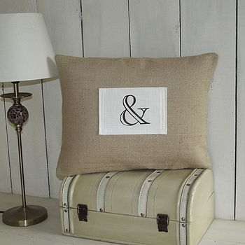 ' Ampersand ' Cushion