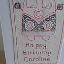 Personalised Camper Van Card