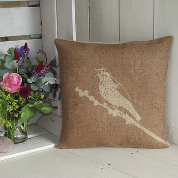 ' Song Thrush ' Cushion