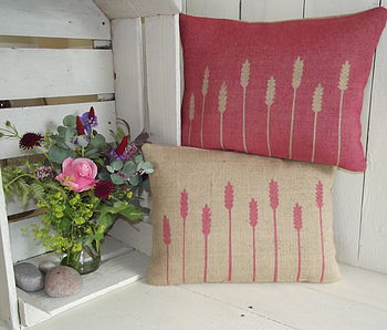 ' Cornfield ' Hessian Cushion