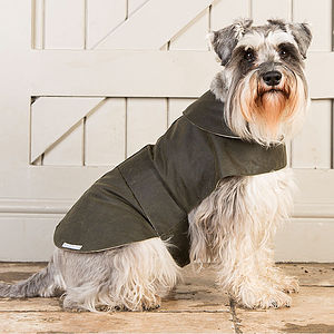 Waxed Waterproof Dog Coat - clothes