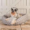 Bone Linen Dog Beds
