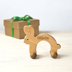Personalised Wooden Bunny Rabbit - toys & games