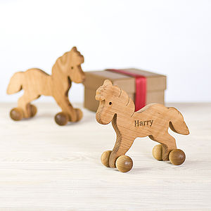 Personalised Wooden Horse - traditional toys & games