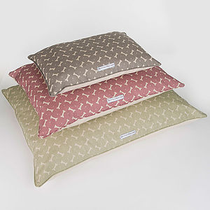 M&H Bone Print Pillow Bed - dogs