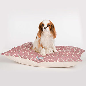 M&H Bone Print Pillow Bed - floor cushions