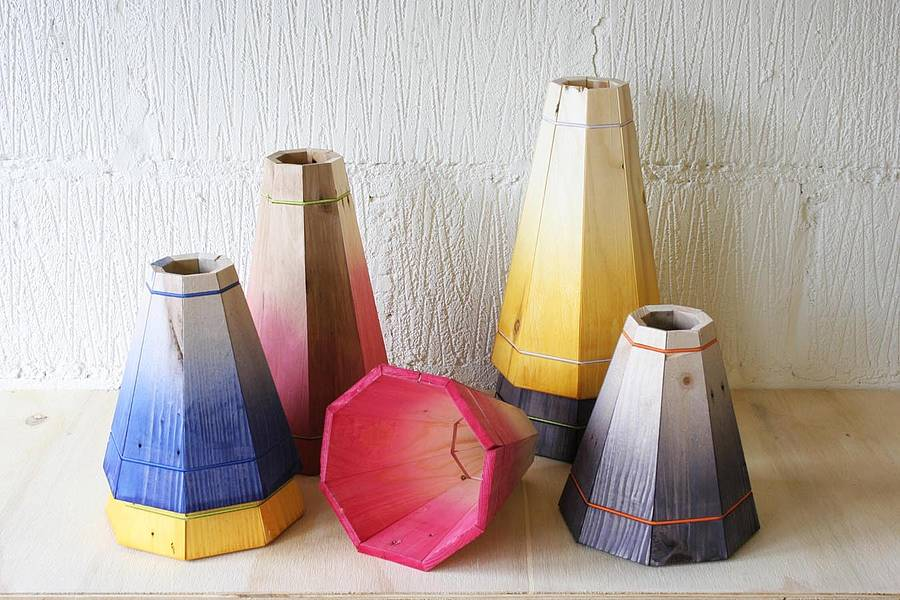 small colourful pendant lamp shade by factorytwentyone ...