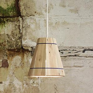 Small Wooden Pendant Lamp Shade - lighting