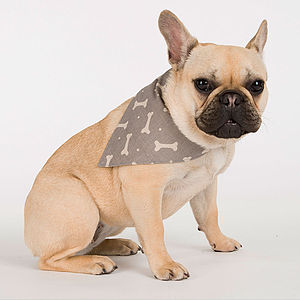 M&H Bone Print Neckerchief - dogs