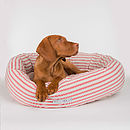 Cranberry Stripe Donut Bed