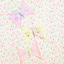 lilac, yellow and pink butterflies