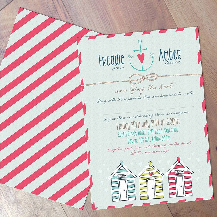 seaside wedding invites | Wedding