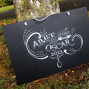 Personalised Wedding Chalkboard - albums & keepsakes