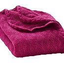 Berry Organic Merino Wool Baby Blanket