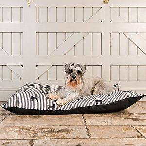 Designer Linen Dog Bed - beds & sleeping