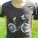 Organic Women's 'Birds On A Bike' T Shirt