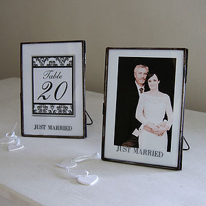 Wedding Photo Frame Or Table No. Holder