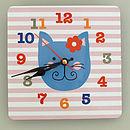 Girl's Wall Clock Various Designs