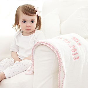 Personalised Luxury Fleece Blanket, Girls - baby care