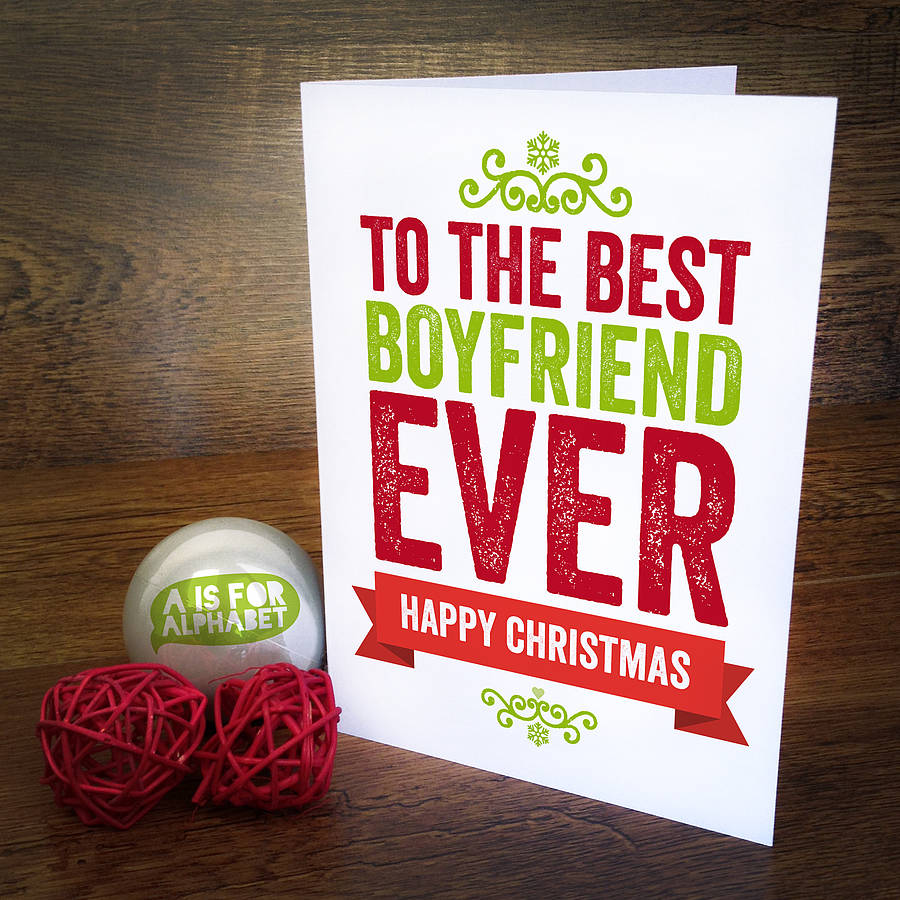 Christmas Card For Boyfriend | Holliday Decorations