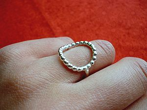 Handmade Elegant Silver Circle Ring - rings