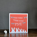 'Then There Were Five' Greeting Card