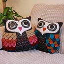 Vintage Inspired Felt Owl Cushion