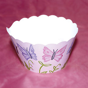 Painted Butterfly Cupcake Wrappers