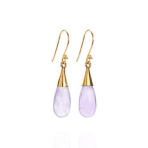 Amethyst 18 Karat Gold Vermeil Earrings - earrings