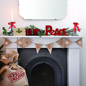 Christmas Vintage Style 'Noel' Bunting - christmas parties & entertaining