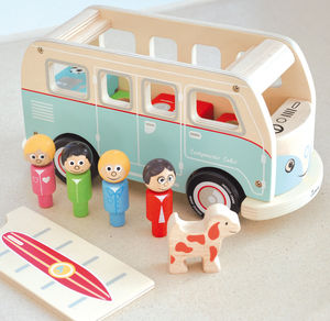 Classic Iconic Camper Van Wooden Toy - gifts for children