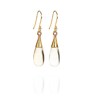 Citrine 18 Karat Gold Vermeil Earrings - earrings