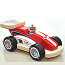 Wooden Rocky Racer Racing Car