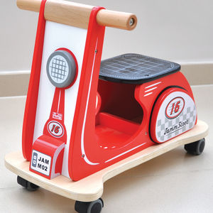 Retro Ride On Scooter Retro Racing Red - premium toys & games
