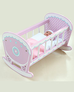 Wooden Loxhill Rocking Cot - pretend play & dressing up