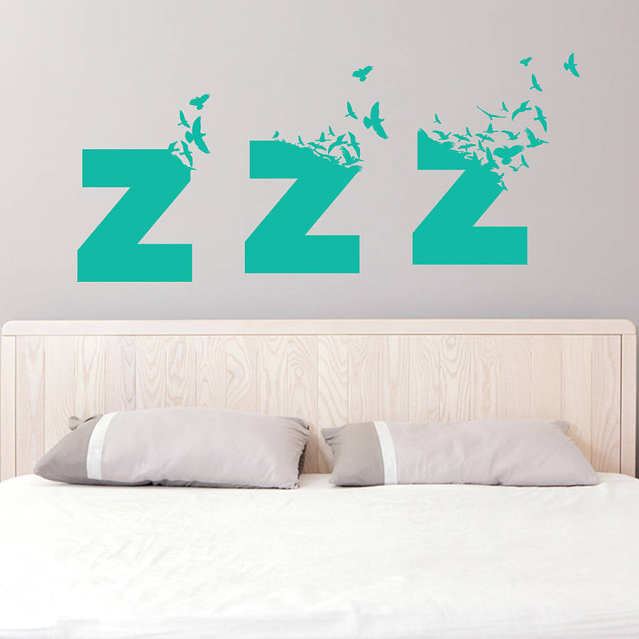 Bedroom Wall Stickers Lyrics : Large sleepy birds bedroom wall sticker by so they made