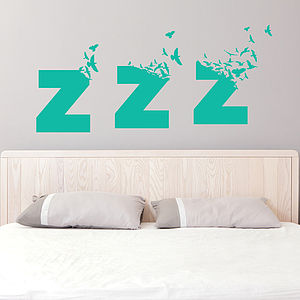 Large Sleepy Birds Bedroom Wall Sticker