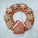 Christmas Gingerbread Wreath