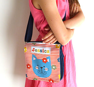 Girls Personalised Denim Bag Various Designs