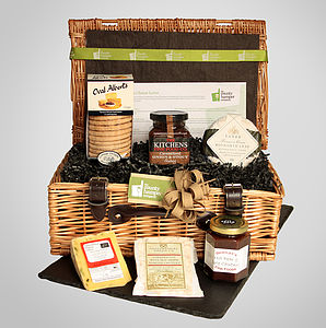 Staffordshire Cheese Lover Hamper - bread & cheese