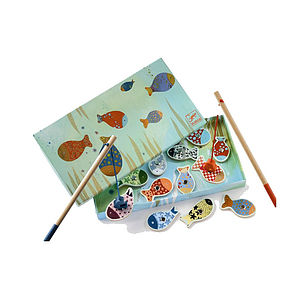 Wooden Magnetic Fishing Game - traditional toys & games