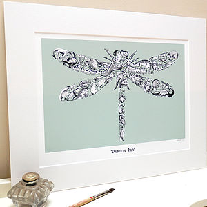 Dragon Fly Print