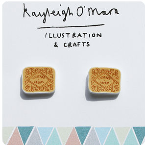 'Custard Cream' Earrings - earrings