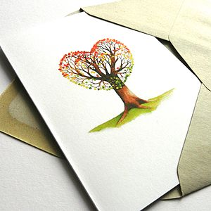 'Love Grows' Greetings Card - valentine's cards