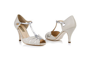 Mimosa Leather T Bar Sandals - wedding fashion