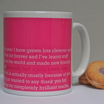'A Jolly Lovely Time' Teacher Mug