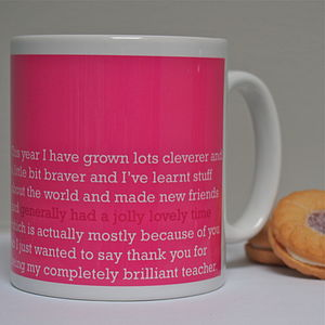 'A Jolly Lovely Time' Teacher Mug - mugs